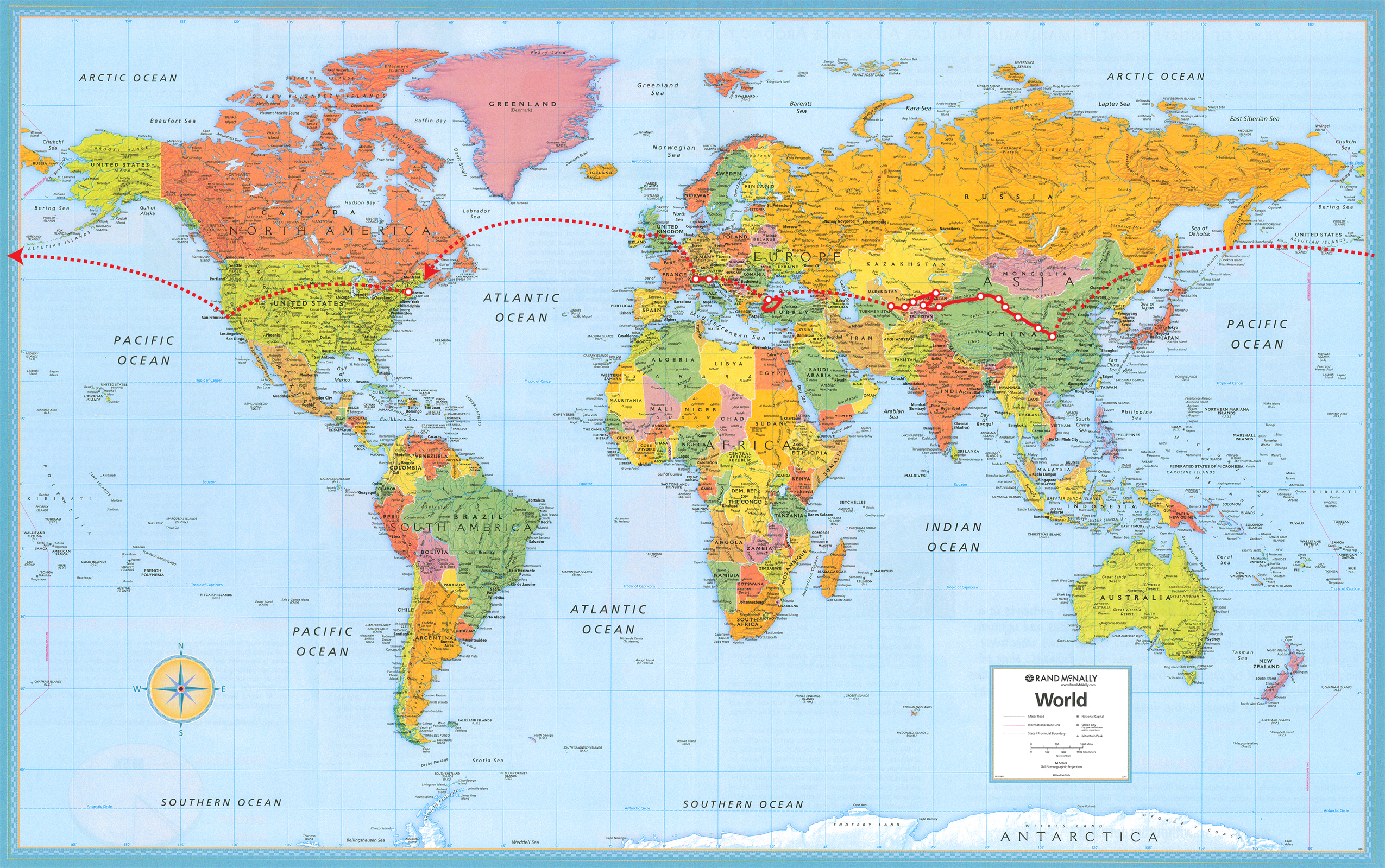 Map Around The World CIELOYLECHE